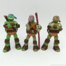 Figuras y Muñecos Tortugas Ninja: LOTE DE 3 TORTUGAS NINJA, SE DESCONOCE EL FABRICANTE. Lote 205804327