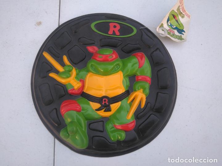 PIZZA DISCO - TORTUJAS NINJA - RAPHAEL - MB AÑO 1990 - A ESTRENAR. (Juguetes - Figuras de Acción - Tortugas Ninja)