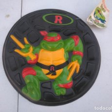 Figuras y Muñecos Tortugas Ninja: PIZZA DISCO - TORTUJAS NINJA - RAPHAEL - MB AÑO 1990 - A ESTRENAR.. Lote 205811140