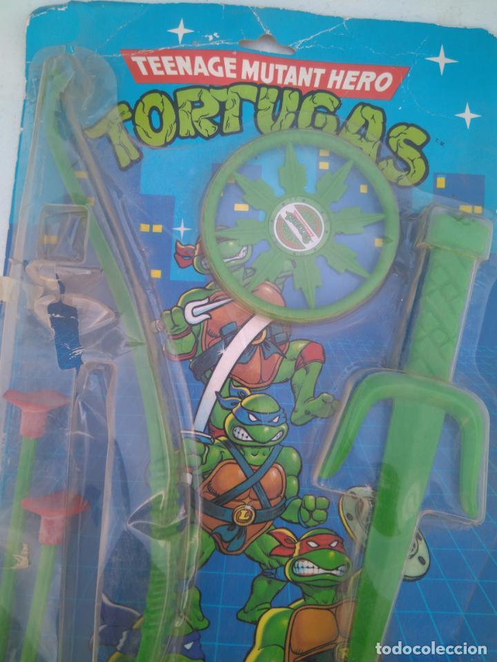 Figuras y Muñecos Tortugas Ninja: BLISTER DE ARMAS DE LAS TORTUGAS NINJA - JUGUETES JOSMAN - A ESTRENAR - Foto 2 - 205813060