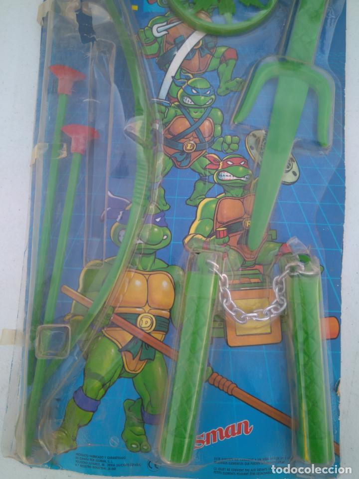 Figuras y Muñecos Tortugas Ninja: BLISTER DE ARMAS DE LAS TORTUGAS NINJA - JUGUETES JOSMAN - A ESTRENAR - Foto 3 - 205813060