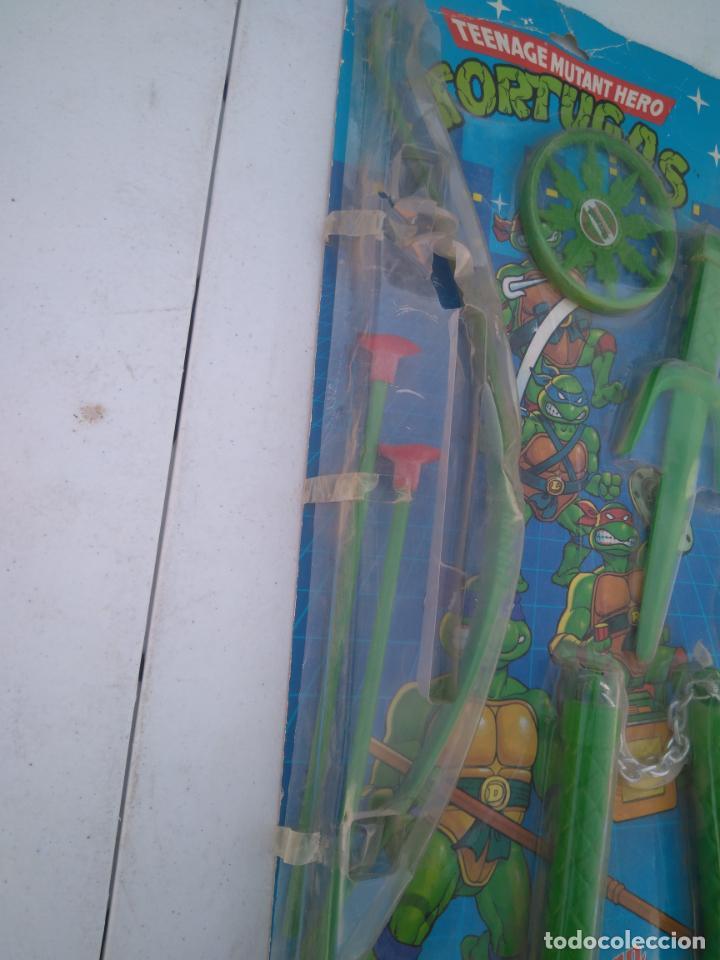 Figuras y Muñecos Tortugas Ninja: BLISTER DE ARMAS DE LAS TORTUGAS NINJA - JUGUETES JOSMAN - A ESTRENAR - Foto 4 - 205813060