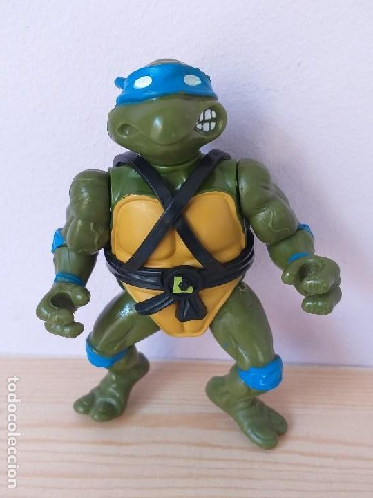 FIGURA DE ACCION TORTUGAS NINJA LEONARDO VINTAGE AÑOS 90 (Juguetes - Figuras de Acción - Tortugas Ninja)
