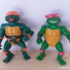 Figuras y Muñecos Tortugas Ninja: LOTE 2 FIGURAS DE ACCION TORTUGAS NINJA WACKY ACTION RAPHAEL MICHAELANGELO VINTAGE AÑOS 90. Lote 206484260