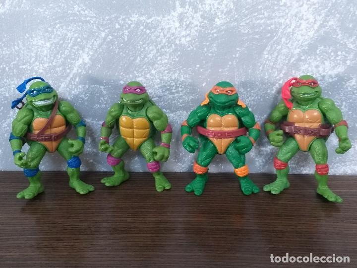 LOTE 4 TORTUGAS NINJA MOVIE STAR VINTAGE AÑOS 90 VERSION DE LA PELICULA DE LOS 90 (Juguetes - Figuras de Acción - Tortugas Ninja)