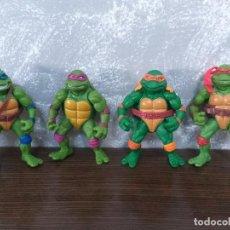 Figuras y Muñecos Tortugas Ninja: LOTE 4 TORTUGAS NINJA MOVIE STAR VINTAGE AÑOS 90 VERSION DE LA PELICULA DE LOS 90. Lote 206484828