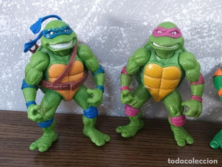 Figuras y Muñecos Tortugas Ninja: lote 4 tortugas ninja movie star vintage años 90 version de la pelicula de los 90 - Foto 2 - 206484828