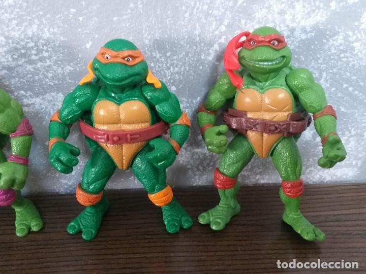 Figuras y Muñecos Tortugas Ninja: lote 4 tortugas ninja movie star vintage años 90 version de la pelicula de los 90 - Foto 3 - 206484828