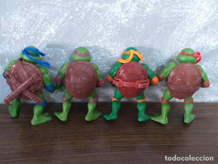 Figuras y Muñecos Tortugas Ninja: lote 4 tortugas ninja movie star vintage años 90 version de la pelicula de los 90 - Foto 4 - 206484828