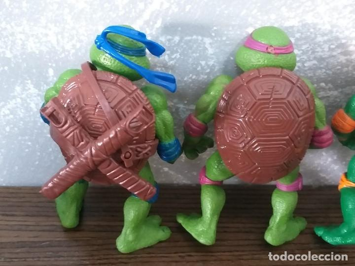 Figuras y Muñecos Tortugas Ninja: lote 4 tortugas ninja movie star vintage años 90 version de la pelicula de los 90 - Foto 5 - 206484828