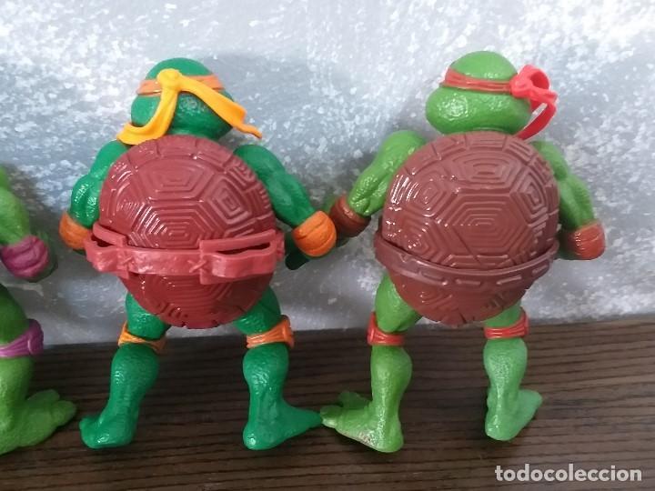 Figuras y Muñecos Tortugas Ninja: lote 4 tortugas ninja movie star vintage años 90 version de la pelicula de los 90 - Foto 6 - 206484828
