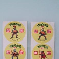 Figuras y Muñecos Tortugas Ninja: INCREIBLE COLECCIÓN COMPLETA PEGATINAS TORTUGAS NINJA BANDAI. Lote 207315592