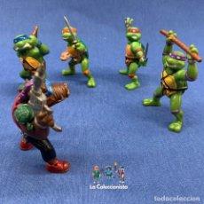 Figuras y Muñecos Tortugas Ninja: TORTUGAS NINJAS - LOTE DE 4 TORTUGAS NINJAS + BEBOP YOLANDA - MIRAGE STUDIOS - AÑO 1988 -DE 7 CM C/U. Lote 207459553