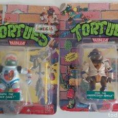 Figuras e Bonecos Tartarugas Ninja: TORTUGAS NINJA BANDAI DON Y RAPH NUEVOS. Lote 208301521