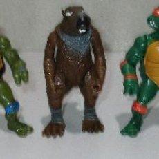 Figurines et Jouets Tortues Ninja: LOTE 5 FIGURAS TORTUGAS NINJA TMNT PLAYMATES 1988 LEONARDO DONATELLO RAPHAEL MICHAELANGELO SPLINTER. Lote 210793370