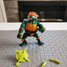 Figuras y Muñecos Tortugas Ninja: TORTUGAS NINJA - MICHAELANGELO WACKY ACTION - CON ACCESORIOS Y COMPLETO - 1989. Lote 211474045