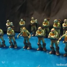Figuras y Muñecos Tortugas Ninja: LOTE DE 13 FIGURAS TORTUGAS NINJA. Lote 212410840