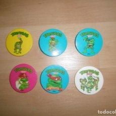 Figuras e Bonecos Tartarugas Ninja: LOTE DE CHAPAS PROMOCIONALES DE CEREALES CHEX DE LAS TORTUGAS NINJA. Lote 212514777