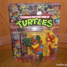 Figuras y Muñecos Tortugas Ninja: NINJA TURTLES LEATHERHEAD, 1989, BLISTER USA NUEVO A ESTRENAR - PLAYMATES TMNT TORTUGAS. Lote 221317428