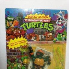 Figuras y Muñecos Tortugas Ninja: MASTERS LOTE TORTUGAS NINJA MICHAELANGELO ROCK TURTLES IMPECABLE UNPUNCHED BANDAI WACKY ACTION. Lote 221723465