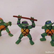 Figuras y Muñecos Tortugas Ninja: EXCELENTE LOTE 3 NINJAS YMATES TOYS - MIRAGE STUDIOS 1988 - TORTUGAS NINJA FUNCIONA A CUERDA 12 CMTS. Lote 221792461