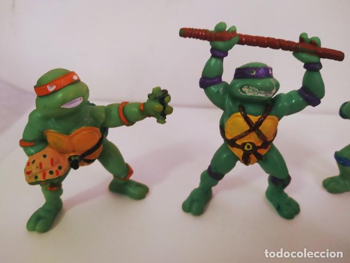 Figuras y Muñecos Tortugas Ninja: EXCELENTE LOTE 3 NINJAS YMATES TOYS - MIRAGE STUDIOS 1988 - TORTUGAS NINJA FUNCIONA A CUERDA 12 cmts - Foto 2 - 221792461