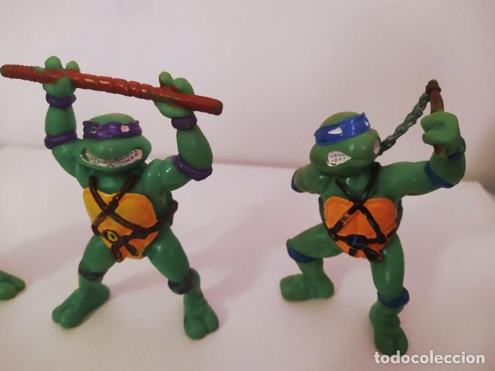 Figuras y Muñecos Tortugas Ninja: EXCELENTE LOTE 3 NINJAS YMATES TOYS - MIRAGE STUDIOS 1988 - TORTUGAS NINJA FUNCIONA A CUERDA 12 cmts - Foto 3 - 221792461