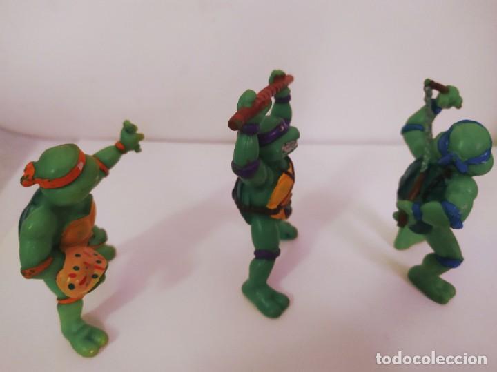 Figuras y Muñecos Tortugas Ninja: EXCELENTE LOTE 3 NINJAS YMATES TOYS - MIRAGE STUDIOS 1988 - TORTUGAS NINJA FUNCIONA A CUERDA 12 cmts - Foto 4 - 221792461
