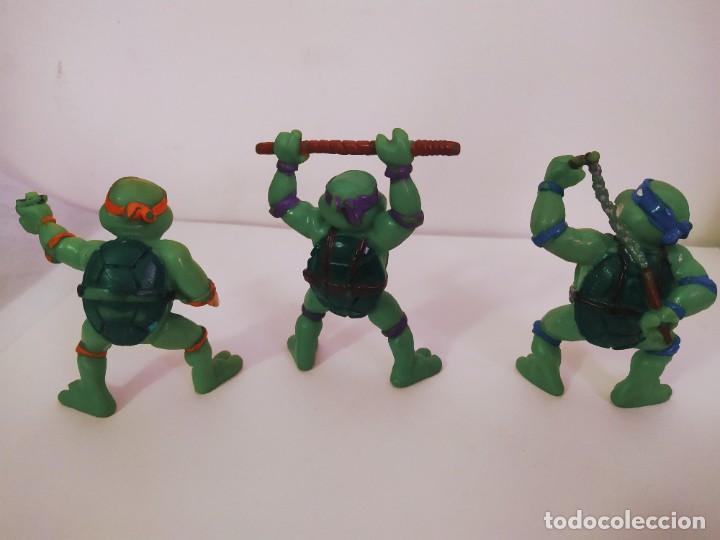 Figuras y Muñecos Tortugas Ninja: EXCELENTE LOTE 3 NINJAS YMATES TOYS - MIRAGE STUDIOS 1988 - TORTUGAS NINJA FUNCIONA A CUERDA 12 cmts - Foto 5 - 221792461