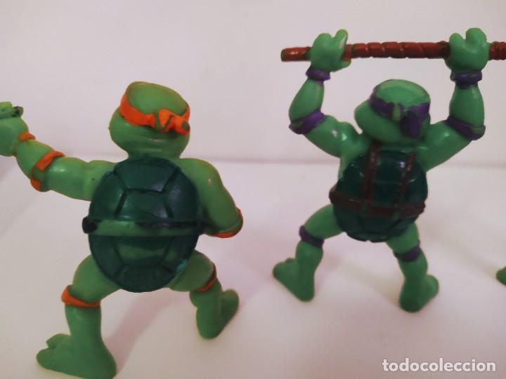 Figuras y Muñecos Tortugas Ninja: EXCELENTE LOTE 3 NINJAS YMATES TOYS - MIRAGE STUDIOS 1988 - TORTUGAS NINJA FUNCIONA A CUERDA 12 cmts - Foto 6 - 221792461