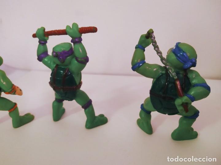 Figuras y Muñecos Tortugas Ninja: EXCELENTE LOTE 3 NINJAS YMATES TOYS - MIRAGE STUDIOS 1988 - TORTUGAS NINJA FUNCIONA A CUERDA 12 cmts - Foto 7 - 221792461