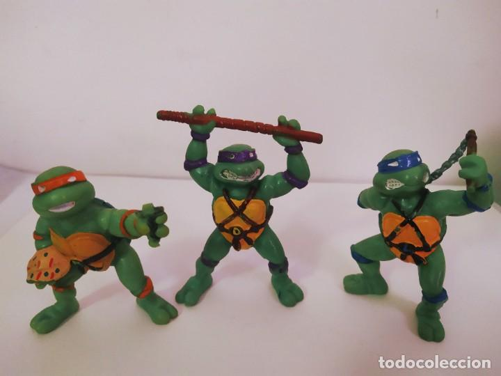 Figuras y Muñecos Tortugas Ninja: EXCELENTE LOTE 3 NINJAS YMATES TOYS - MIRAGE STUDIOS 1988 - TORTUGAS NINJA FUNCIONA A CUERDA 12 cmts - Foto 8 - 221792461