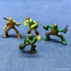 Figuras y Muñecos Tortugas Ninja: 4 FIGURAS TORTUGAS NINJA -VIACOM 4CM. Lote 221837853