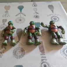 Figuras y Muñecos Tortugas Ninja: LOTE 3 MUÑECOS ARTICULADOS TORTUGAS NINJA. TMNT. VIACOM. Lote 220587090