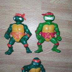 Figurines et Jouets Tortues Ninja: LOTE TORTUGAS NINJA STORAGE SHELL SIN CAPARAZÓN, MÁS UN MIKE DE REGALO. Lote 222017508