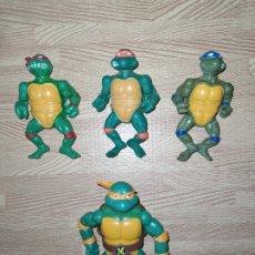 Figurines et Jouets Tortues Ninja: LOTE TORTUGAS NINJA BOOTLEG MÁS UNA ARTICULADA DE REGALO. Lote 222018337