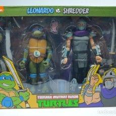 Figuras y Muñecos Tortugas Ninja: PACK FIGURAS LEONARDO Y DESPEDAZADOR SHREDDER SERIE ANIMACION 90 LAS TORTUGAS NINJA. Lote 222484481