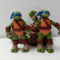 Figuras y Muñecos Tortugas Ninja: DOS TORTUGAS NINJA LEONARDO VIACOM PLAYMATES 2012. Lote 224103888