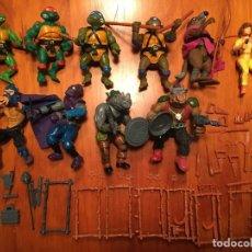 Figure e Bambolotti Tortugas Ninja: LOTE TORTUGAS NINJA. COLECCIÓN COMPLETA DEL PRIMER LANZAMIENTO. 10 PERSONAJES. Lote 225881638
