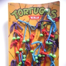 Figuras y Muñecos Tortugas Ninja: TMNT TORTUGAS NINJA EXPOSITOR COMPLETO DE CORDONES 1988 STAR TOYS. Lote 226195630