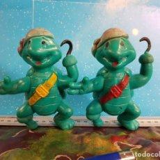 Figuras y Muñecos Tortugas Ninja: PAREJA DE TORTUGAS NINJA MUTANTES ADOLESCENTES Y PIRATAS BOOTLEG DE PVC LEONARDO Y DONATELLO. Lote 229344595