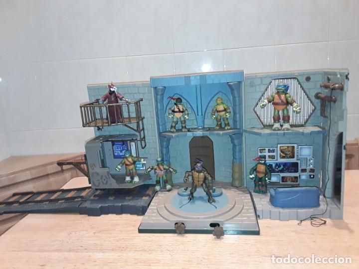 BASE MUTANTE TORTUGAS NINJA , PLAYMATES TOYS 2003, MIRAGE STUDIOS. (Juguetes - Figuras de Acción - Tortugas Ninja)
