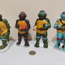 Figuras y Muñecos Tortugas Ninja: 4 FIGURAS TORTUGAS NINJA DE CERAMICA BOOTLEG COMPLETA ESPAÑOLAS MADE IN SPAIN RARAS FAKE. Lote 233141155