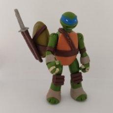 Figuras y Muñecos Tortugas Ninja: TORTUGAS NINJA LEONARDO BATTLE SHELL COMPLETO - 2013 VIACOM - TMNT -. Lote 234177730
