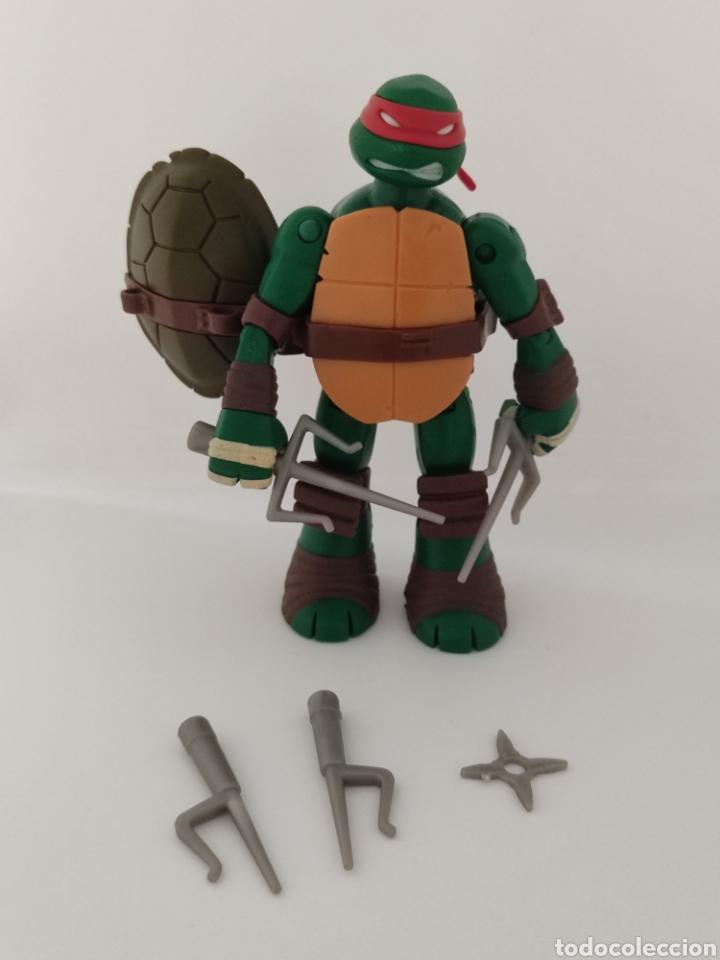 TORTUGAS NINJA RAPHAEL BATTLE SHELL - 2013 VIACOM - TMNT - (Juguetes - Figuras de Acción - Tortugas Ninja)