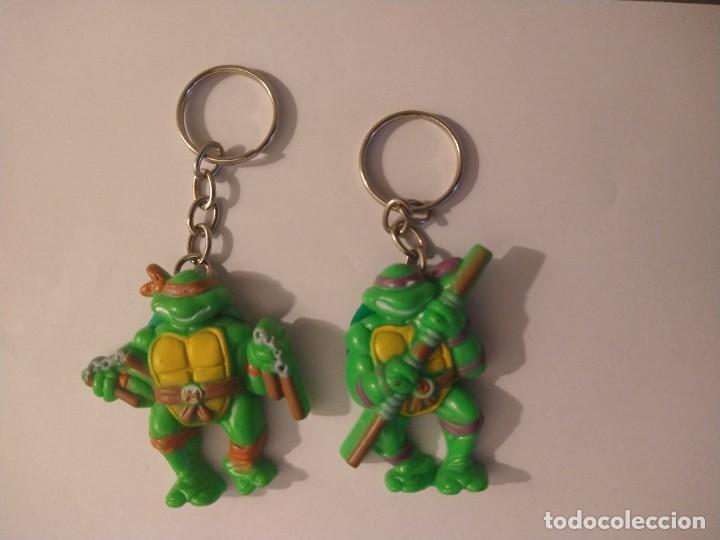 TORTUGAS NINJA 2 LLAVEROS MICHELANGELO DONATELLO TNMT 1988 (Juguetes - Figuras de Acción - Tortugas Ninja)