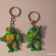 Figuras y Muñecos Tortugas Ninja: TORTUGAS NINJA 2 LLAVEROS MICHELANGELO DONATELLO TNMT 1988. Lote 235304600
