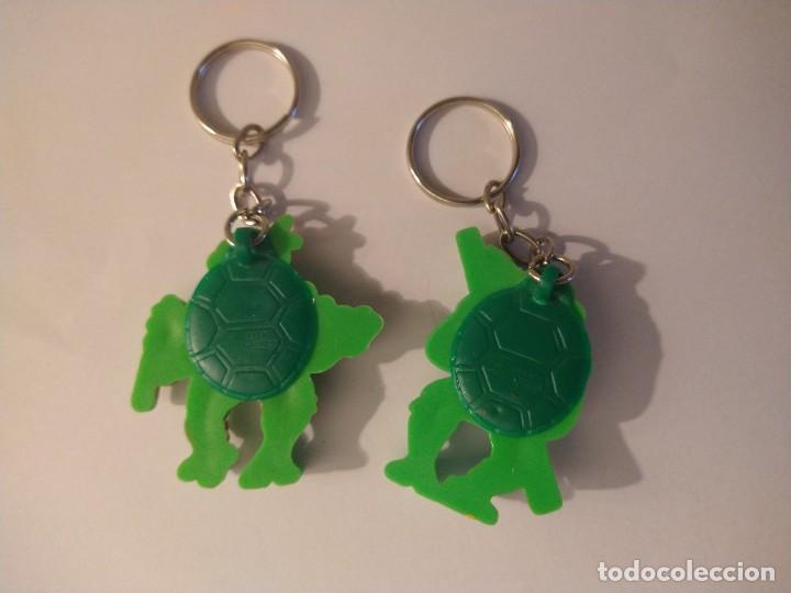 Figuras y Muñecos Tortugas Ninja: TORTUGAS NINJA 2 LLAVEROS MICHELANGELO DONATELLO TNMT 1988 - Foto 2 - 235304600