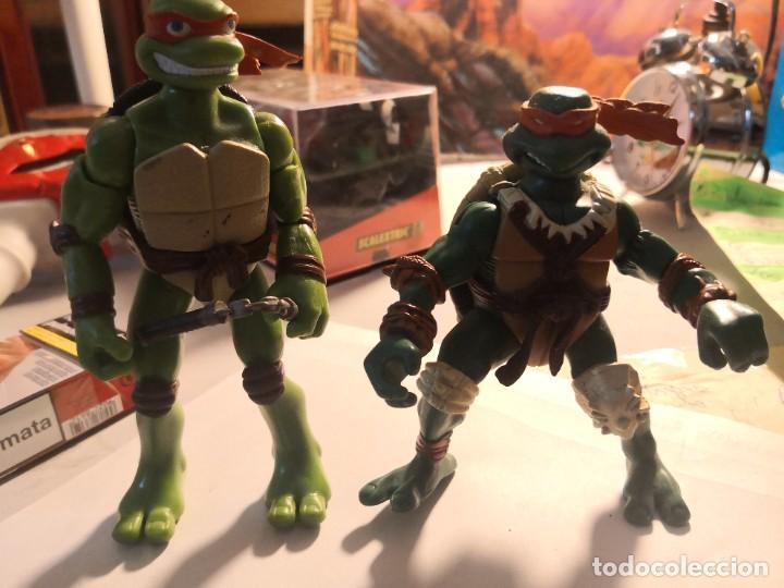 2 FIGURAS COLECCIONABLES SERIE TORTUGAS NINJA PLAYMATES TOYS AÑO 2000 (Juguetes - Figuras de Acción - Tortugas Ninja)