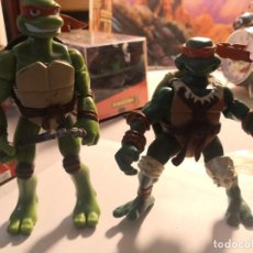 Figuras y Muñecos Tortugas Ninja: 2 FIGURAS COLECCIONABLES SERIE TORTUGAS NINJA PLAYMATES TOYS AÑO 2000. Lote 245024860